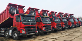 front end cylinder mining tippers