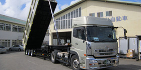 front end cylinder tipping semitrailer