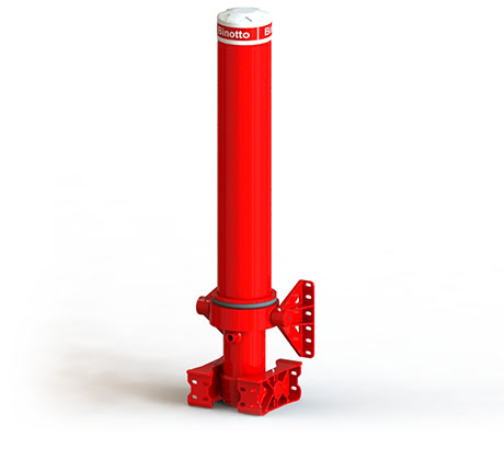 Front-end telescopic cylinder with outer cover